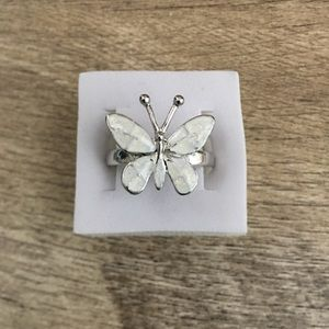 FASHION WHITE FIRE OPAL BUTTERFLY 🦋 RING